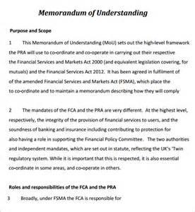 non profit mou template memorandum of understanding 5 free pdf
