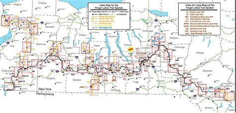 map of the finger lakes flt conference maps and gps