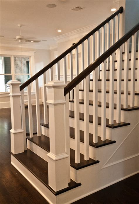 stairwell banister craftsman staircase transitional staircase houston