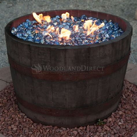 wine barrel fire pit rust woodlanddirect com outdoor