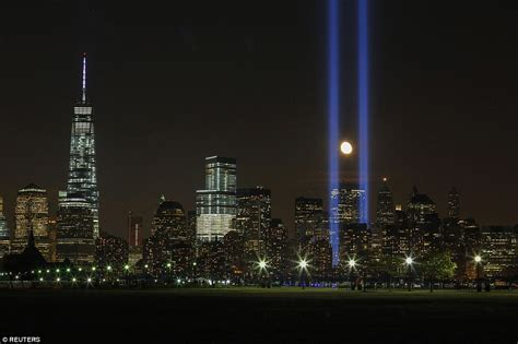 911 Lights Memorial by New York City Skies Light Up In Remembrance To Mark 13th