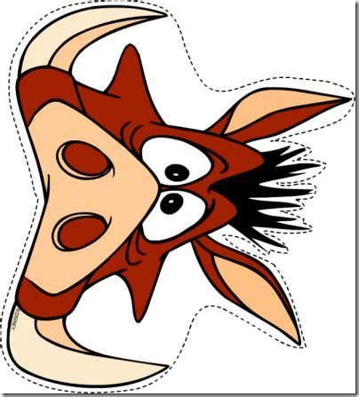 printable rafiki mask mascara infantil timon y pumbas cerca amb google