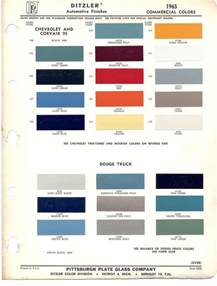 truck colors paint chips 1965 chevy truck corvair chevrolet