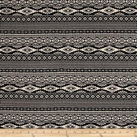 aztec print upholstery fabric peachskin aztec print black ecru discount designer