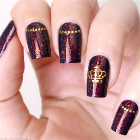 3d Nail Sticker 2 59 12pcs gold 3d nail sticker crown bowknot butterfly flower patterns easy and fast