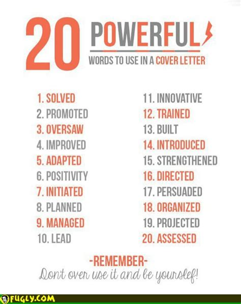 Powerful Resume Words 20 powerful words to use in a resume