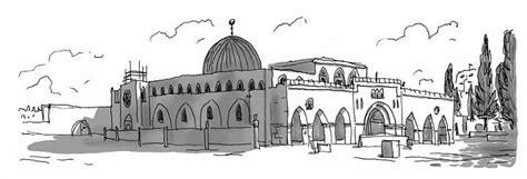 sketch in sketchbook lieux saints