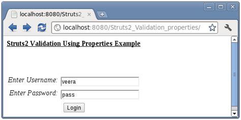 pattern url validation java struts 2 validation using properties file exle and tutorial