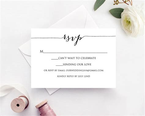 Response Card Template by Rsvp Card Printable Template 183 Wedding Templates And