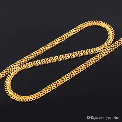 new pattern gold necklace 2017 men s 18k st gold chain for men jewelry fancy