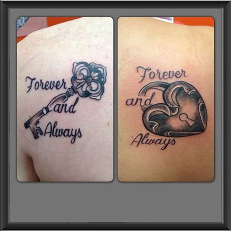 heart lock and key tattoos for couples his and hers tattoos tats my