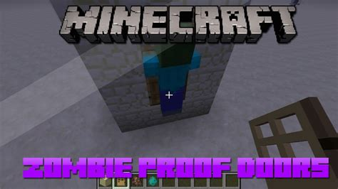 zombie siege tutorial minecraft zombie proof doors for villages youtube