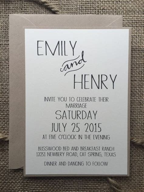 Simple Handmade Wedding Invitations - best 25 simple wedding invitations ideas on