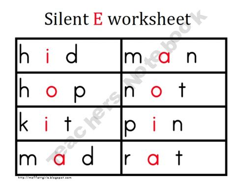Silent E Worksheets by Silent E Worksheet My Year With Grade