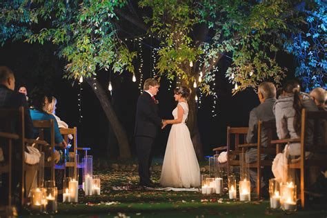5 exles of nighttime wedding ceremony d 233 cor for