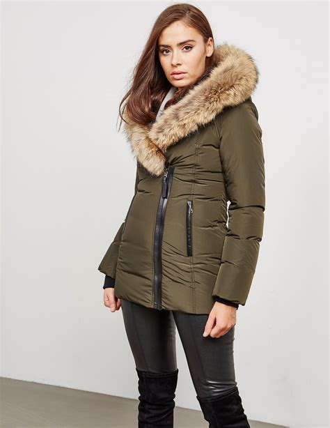 padded jacket mackage adali fur padded jacket tessuti