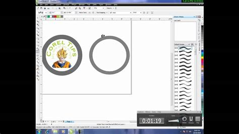 create pattern in corel draw x5 how to create a logo in corel draw x5 youtube