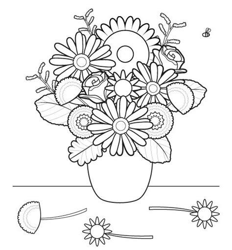 dibujos infantiles para colorear de flores ramo de flores dibujo para colorear e imprimir