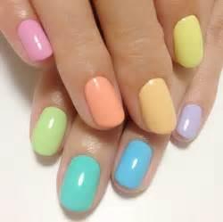 different color nails colorful springtime nails pastels pretty nails