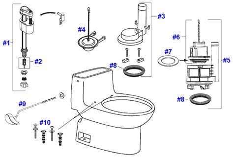 Toto Plumbing Parts toto carlyle toilet replacement parts