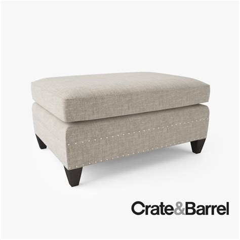 ottoman crate and barrel crate barrel durham ottoman obj