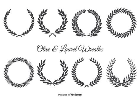 olive vector olive wreath free vector art 1843 free downloads