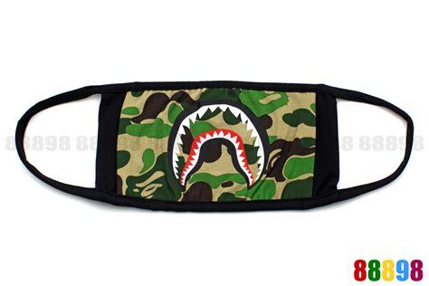 Bape Abc Camo Shark Blue new a bathing ape bape shark abc camo green mask ebay