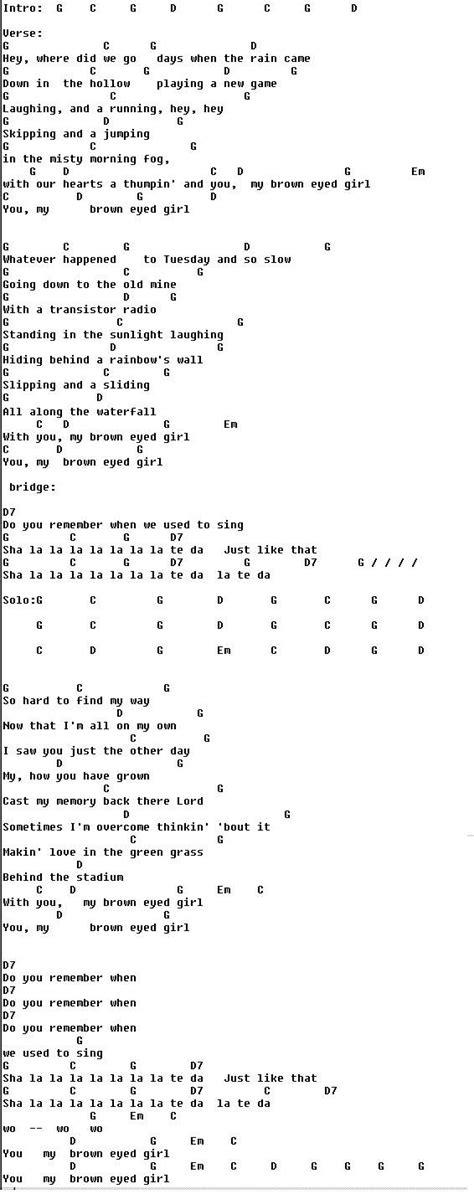 ukulele tutorial brown eyed girl 17 best images about music on pinterest sheet music