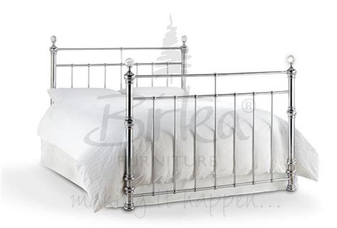chrome bed frame birlea georgina 5ft king size chrome metal bed frame with crystals by birlea