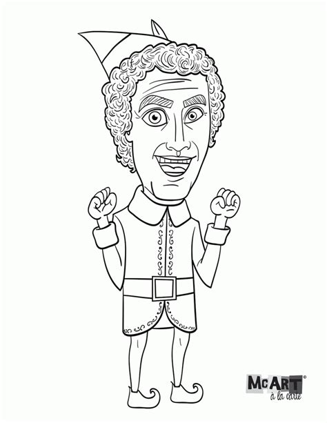 Elf Movie Coloring Pages | elf on the shelf coloring pages free az coloring pages