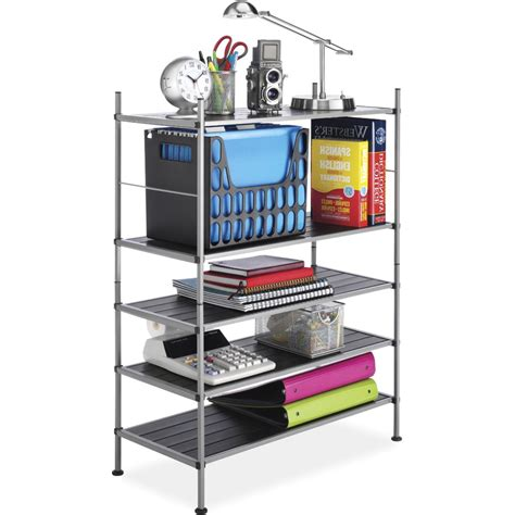 stackable storage shelves in free standing shelves