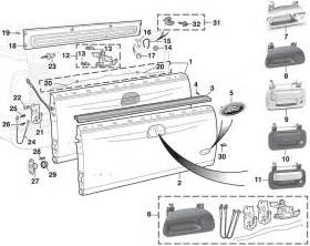 ford tailgate parts diagram auto parts diagrams