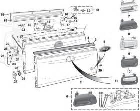 Ford Tailgate Parts 2007 Silverado Tailgate Diagram Autos Post