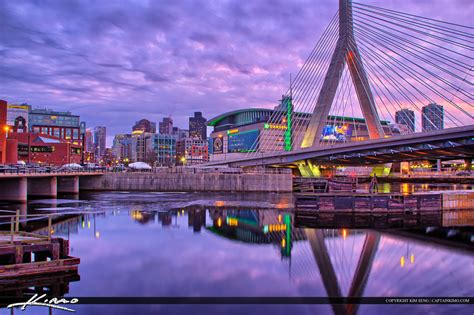 Book Wallpaper by Boston City Downtown Bunker Hill Bridge Purple Sky