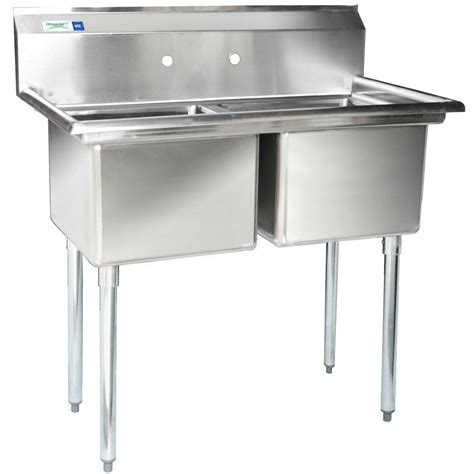 Stainless Steel Commercial Sinks by New 41 Quot 2 Compartment Stainless Steel Commercial Sink