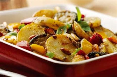 mediterranean potato and vegetable bake recipe goodtoknow