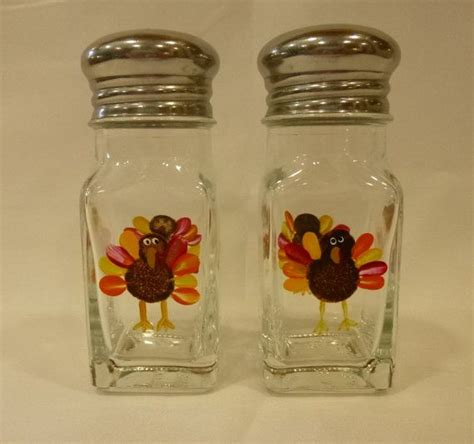 Holiday Craft Ideas On Pinterest - hand painted salt and pepper shakers turkeys fall harvest thanksgiving autumn fall harvest
