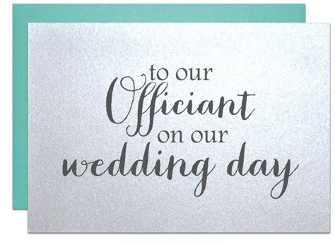 thank you letter to pastor for wedding wedding officiant card thank you card to reverend priest