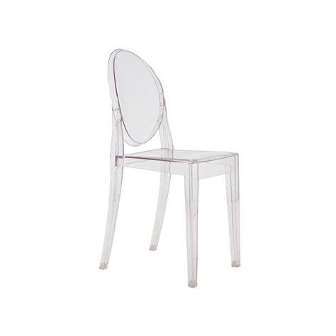 chaises philippe starck chaise ghost par philippe starck kartell ganj