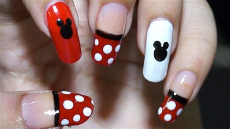 nail at home easy cool mickey mouse design in