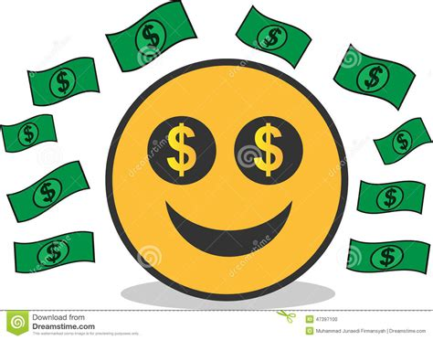chagne emoticon dollar emoticon stock vector illustration of