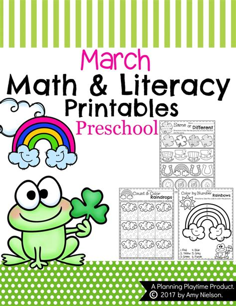 kindergarten themes march march preschool worksheets planning playtime