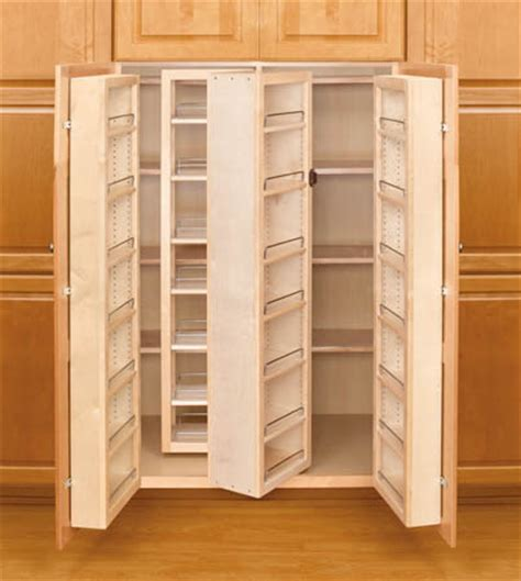wood pantry cabinet for kitchen revashelf 57 quot high swing out wood kitchen pantry cabinet