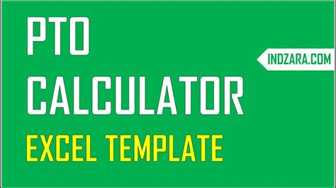 Pto Calculator Excel Template Employee Pto Tracker Vacation Tracker Youtube Employee Pto Tracker Template