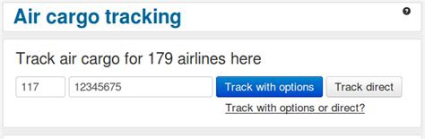 air cargo tracking track trace