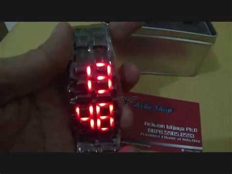 Jam Samurai Led jam tangan tokyo flash iron samurai hitam led merah