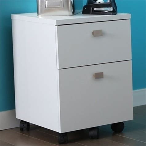 White Filing Cabinet 2 Drawer South Shore Interface 2 Drawer Mobile File White Filing Cabinet Ebay