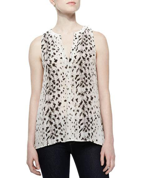 Aruna Dress joie aruna printed chiffon sleeveless top