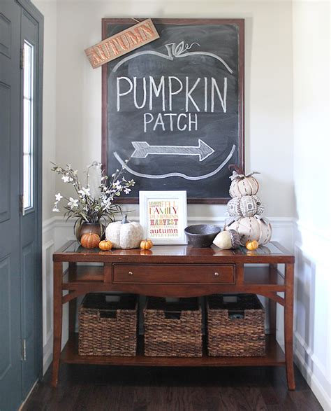 fall entry table decor fall house tour 2016 the foyer how to nest for less