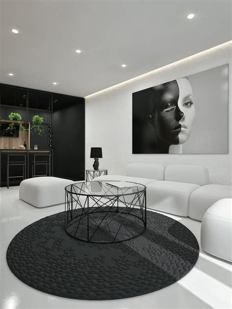 wit design interieur black and white interior design ideas modern apartment by